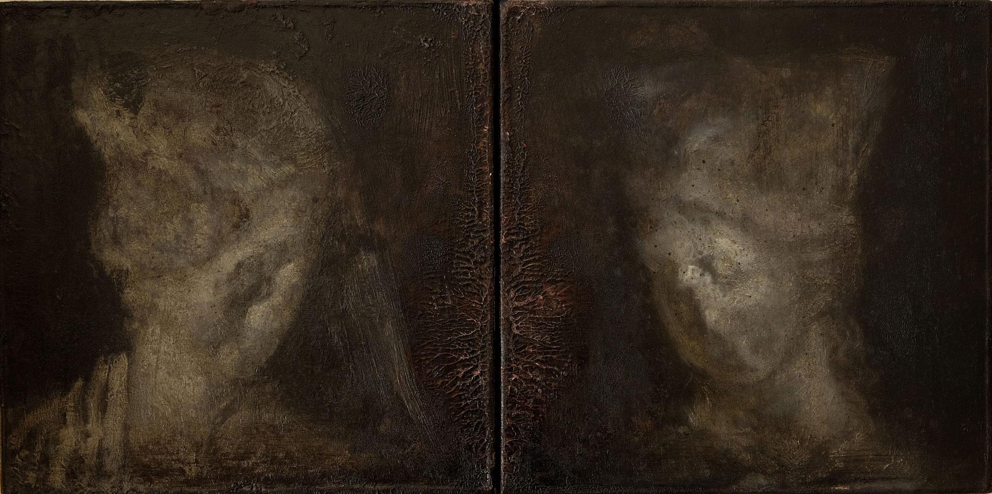 Öl auf Leinwand, jeweils 30 cm x 30 cm, 2017