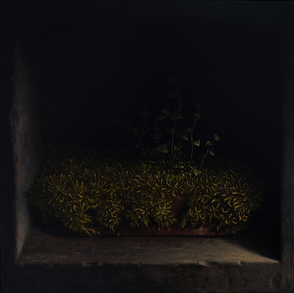 """""""Ziegelstein"""", 40 cm x 40 cm, Öl auf Leinwand, 2016"""