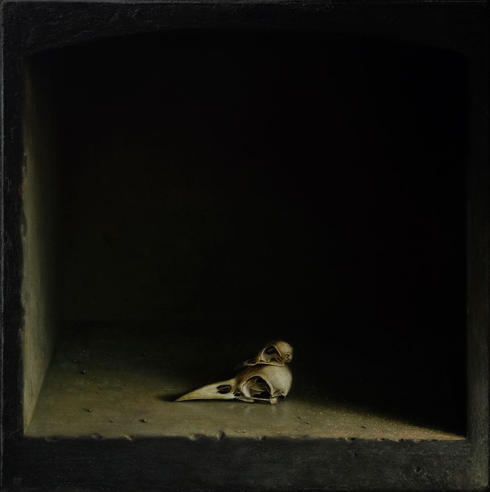 """""""Zwei Köpfchen"""", 40 cm x 40 cm, Öl auf Leinwand, 2016"""