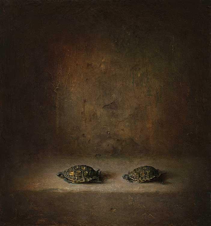 Martin Voigt / Vanitas mit Schildkröten / Öl auf Leinwand / 40x43cm /2019